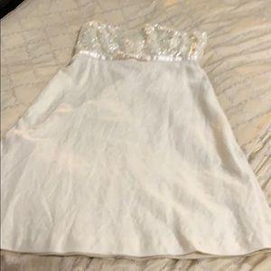 Jcrew cocktail dress  strapless size 12